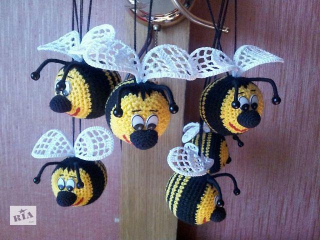 купить бу Вязанная игрушка.Пчелка Смайлик в Харькове