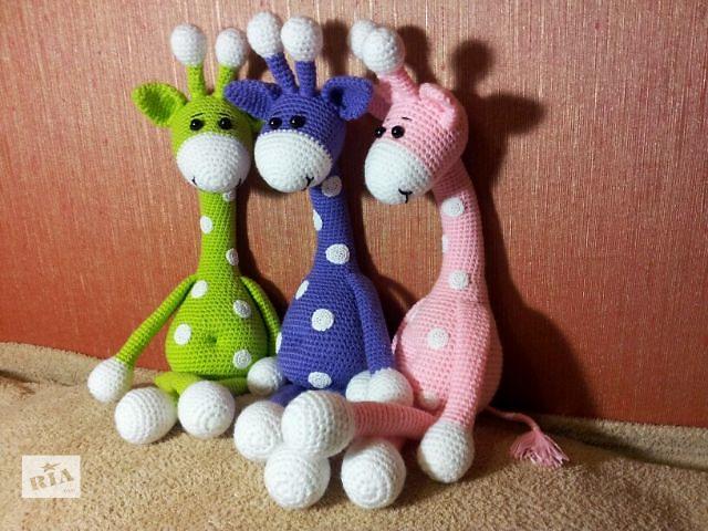 купить бу Вязанная игрушка Жираф 43 см в Харькове