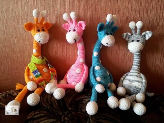 Вязанная игрушка Жираф 43 см- объявление о продаже  в Харькове
