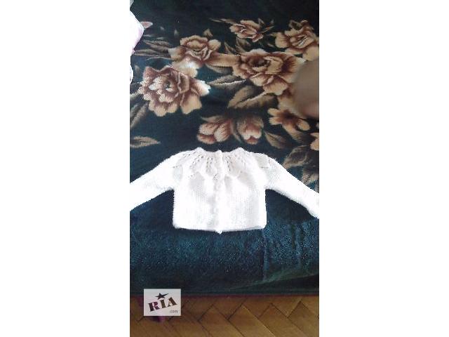 купить бу Вязаные белоснежные кофточки на 3 месяца до года! в Кельменцах