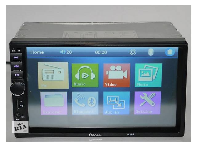 Видео магнитола Pioneer 7018B 9082B копия 2DIN USB SD FM экран 7 дюймов подключение камеры Bluetooth пульт- объявление о продаже  в Одессе