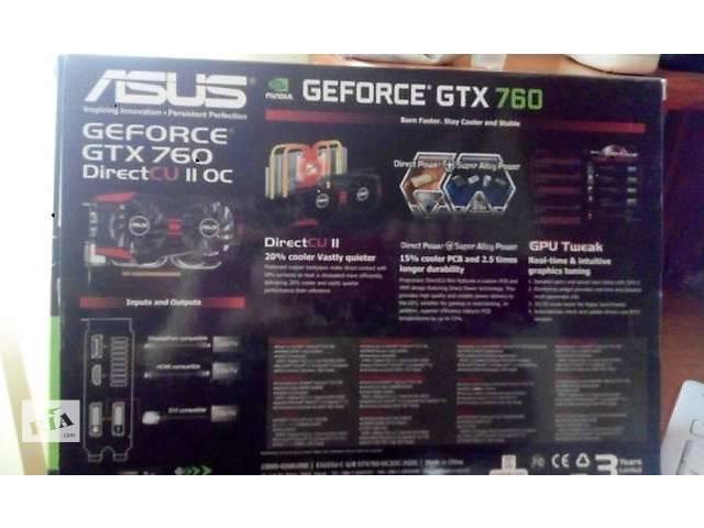 продам Видеокарта Asus GeForce GTX 760 DC II 2048MB GDDR5 бу в Броварах