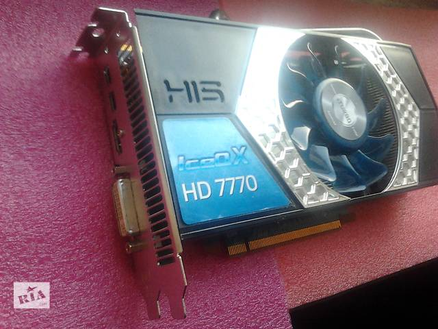 купить бу Видеокарта His Radeon HD 7770 , 1Gb , DDR5 , 128Bit в Чернигове
