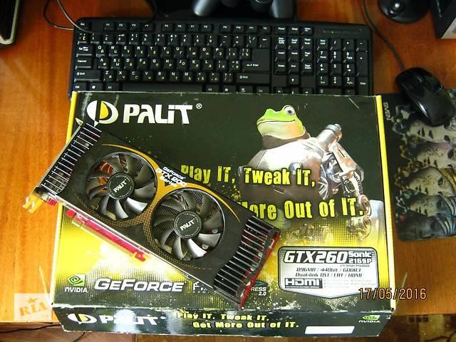 купить бу Игровая видеокарта Palit GTX 260 Sonic 216SP 448 bit в Павлограде