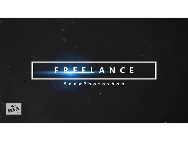 Видеомонтаж,работа в фотошоп,создание логотипа- объявление о продаже   в Украине