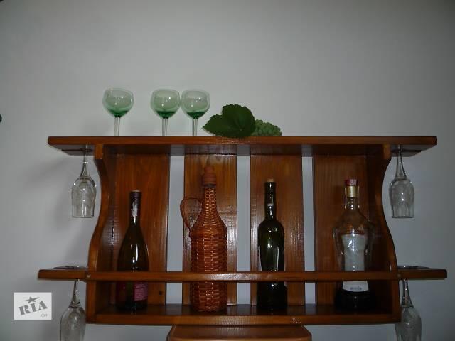 продам винная полка из массива сосны, под заказ! бу в Хотине (Черновицкой обл.)