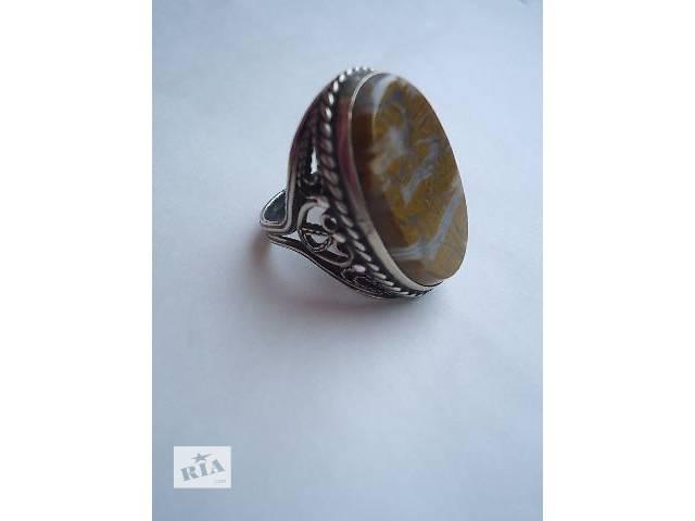 бу Винтажное кольцо с натуральным камнем. в Северодонецке