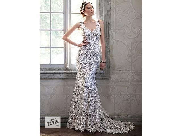 Изысканное дизайнерское свадебное платье- объявление о продаже  в Львове