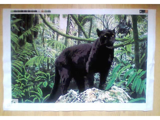 """Вышитая картина """"Пантера"""", чешский бисер- объявление о продаже  в Коломые"""
