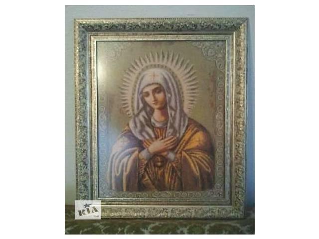 """продам Вышитая крестиком картина """"Умиление"""" бу в Бучаче"""