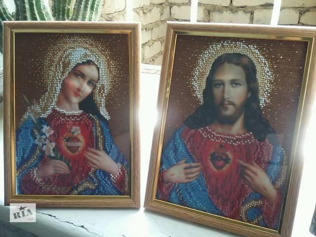 продам Вышивка бисером. Иконы Божией Матери и Иисуса Христа бу в Одессе