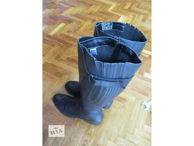 Высокие кожаные сапоги Janet D Германия 40р.- объявление о продаже  в Львове