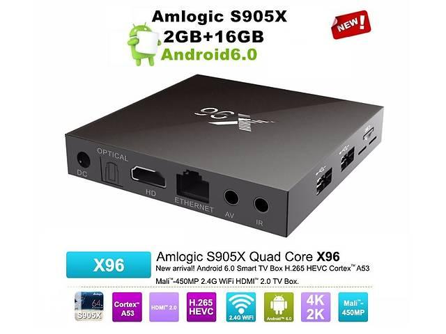 продам X96 - смарт ТВ приставка на Android 6.0, Amlogic S905X, 2/16Gb (Light Version) бу в Киеве