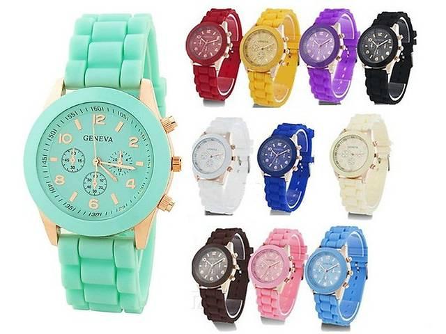 продам Яркие женские часы Geneva Белые, Мятные, Шоколадные или Черные. бу в Днепре (Днепропетровске)