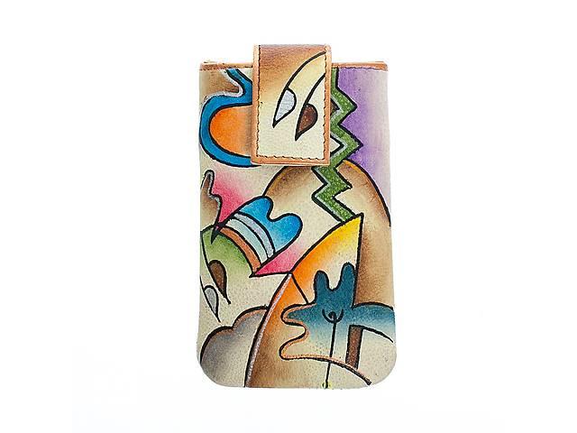 купить бу Яркий кожаный чехол с ручной росписью в Киеве