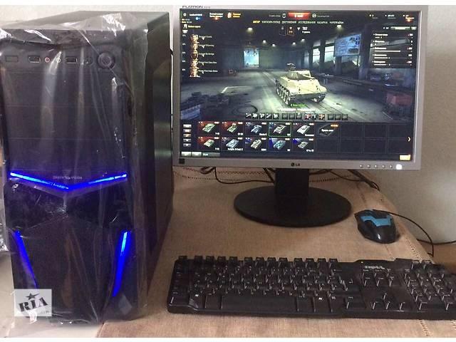 продам Ігровий ПК танки 4 ядра (i3, 4*3.1 GHz, 6 RAM; 1gb Video) + Монітор 22 бу в Києві
