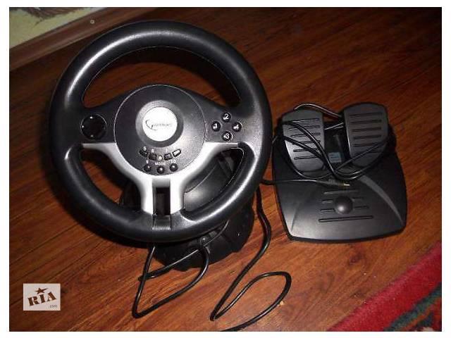 продам Игровой руль и педали к компъютеру Gembird STR RaceForce USB бу в Ивано-Франковске