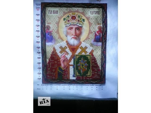 купить бу Икона вышитая бисером Николай Чудотворец в Константиновке