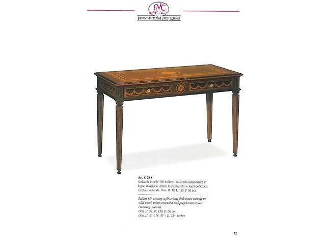 бу  Итальянский инкрустированный письменный стол из музейной коллекции в Киеве
