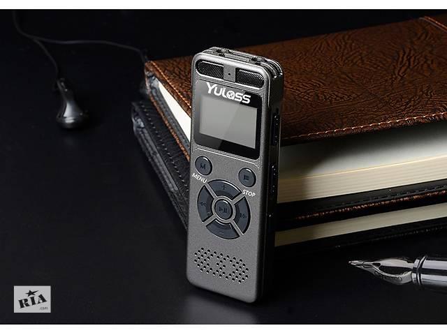 купить бу Yulass GV30 цифровой диктофон 8гб мини mp3-плеер поддержка карты памяти до 64 гб. профессиональный аудио-рекордер  в Киеве