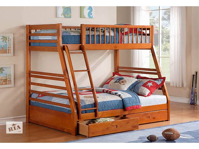 купить бу Аскания: двухъярусная кровать-трансформер семейного типа, от фабрики мебели из дерева! в Киеве