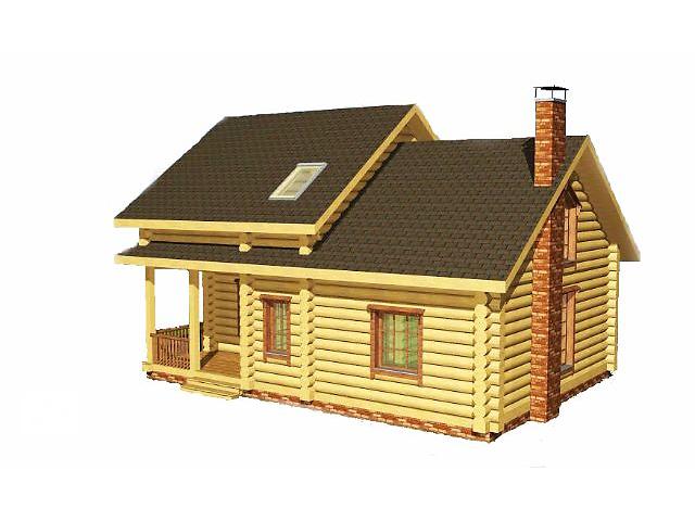 бу деревянный дом из дикого сруба 2 этажа  в Украине