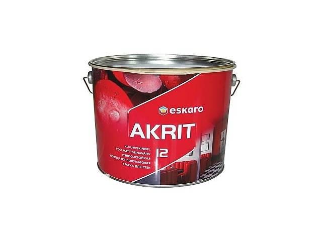бу Износостойкая моющаяся полуматовая краска для стен Eskaro Akrit 12 в Калуше