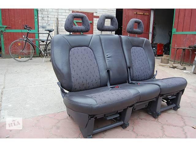 купить бу Заднее тройное полукожанное сидение трансформер 2+1 Fiat Doblo Cargo в Любомле