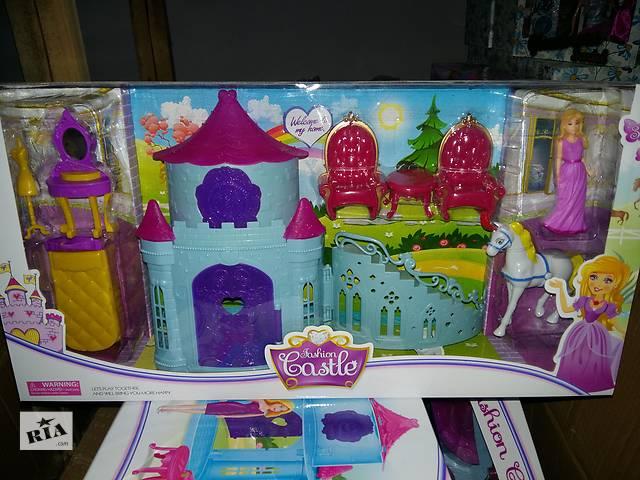 бу Замок SS012AB принцессы, фигурка 11см, лошадь, мебель, 2 вида, в кор-ке, 53-27-10см в Ровно