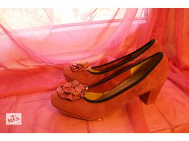 Замшевые туфли 38 р Vera PELLE- объявление о продаже  в Виннице