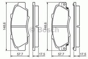 Тормозные колодки комплект Honda Accord