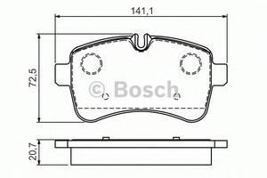 Тормозные колодки комплект Iveco Daily груз.