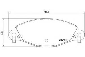 Тормозные колодки комплект Citroen C5
