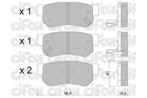 Тормозные колодки комплект Hyundai Getz