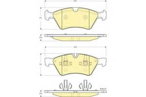 Тормозные колодки комплект Mercedes M-Class