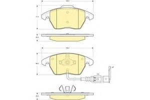 Тормозные колодки комплект Seat Toledo
