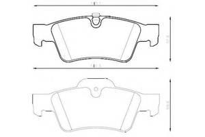 Тормозные колодки комплект Mercedes R-Class