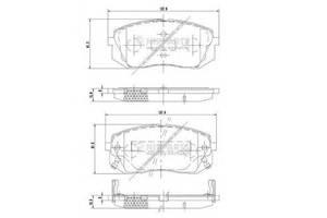 Тормозные колодки комплект Hyundai i40