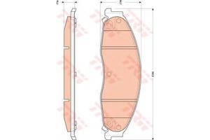 Тормозные колодки комплекты Cadillac STS