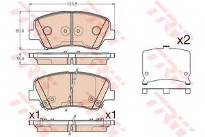 Тормозные колодки комплект Hyundai Veloster