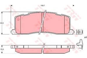 Тормозные колодки комплект Toyota Previa