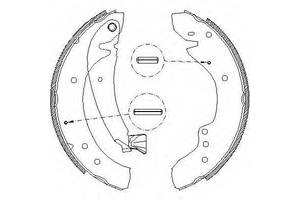 Тормозные колодки комплект Citroen