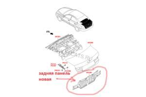 Новые Панели задние Hyundai Sonata