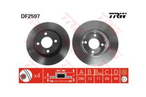 Новые Тормозные диски Audi 80
