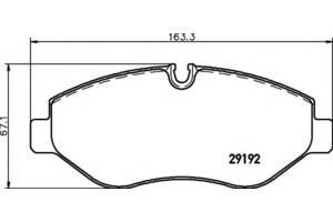 Новые Тормозные колодки комплекты Volkswagen Crafter груз.