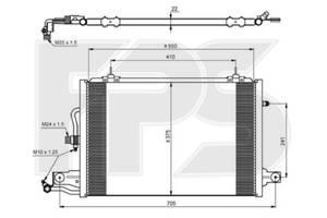 Радиатор кондиционера Audi 100