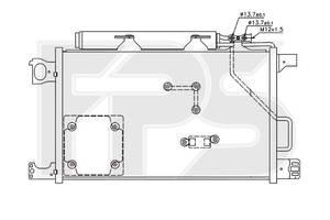 Радиатор кондиционера Mercedes C-Class