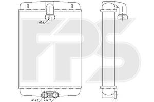 Радиатор печки Mercedes C-Class