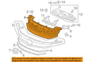 Новые Молдинги решетки радиатора Honda Accord