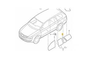 Стекла двери Volkswagen Golf V